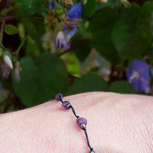 bracelet pyrite amethiste