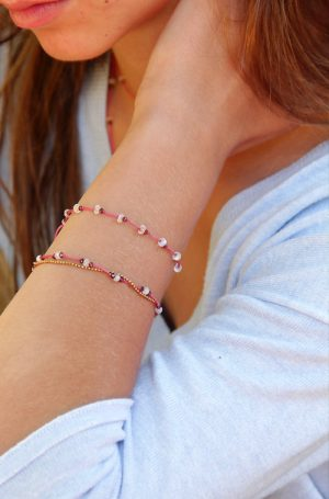 bracelet grenat et pierre de lune
