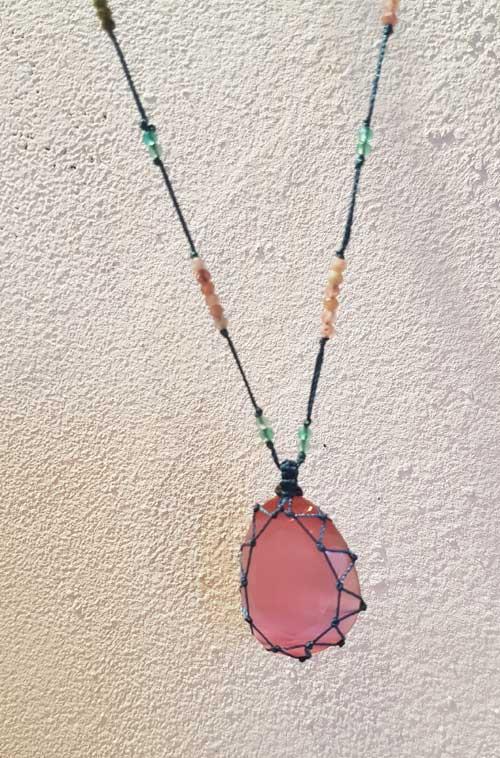 collier tourmalinemulticolore