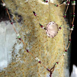ras de cou quartz rose