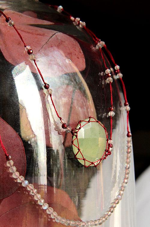 collier ajustables aquamarine